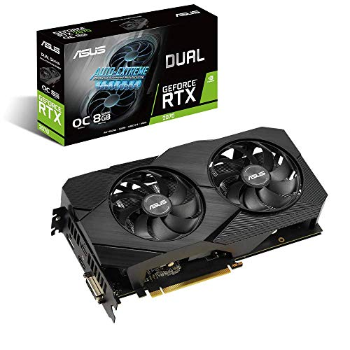ASUS Dual NVIDIA GeForce RTX 2070 EVO V2 OC Edition Carte Graphique Gaming (8GB GDDR6, PCIe 3.0, Axial fan, 0dB, DirectCU II, Auto-Extreme, 144hr validation)