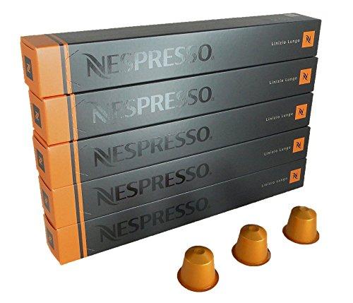 NESPRESSO ネスプレッソ カプセル コーヒー リニツィオ・ルンゴ 1本10カプセル×5本セット [並行輸入品]