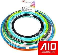 AIO Robotics Sample PLA 3D Pen/Printer Filament, 16 Colors, 10 feet per Color, Dimensional Accuracy +/- 0.02 mm, 1.75 mm
