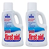 Natural Chemistry 03122-02 Pool First Aid Clears Cloudy Swimming Pool Water, 2-Liters, 2-Pack