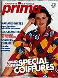 PRIMA [No 43] du 01/04/1986 - MARIAGES MIXTES - LE KOULIBIAC DE SAUMON - LES CLEMATITES - ROBE INDIENNE - SOIGNER L'OBESITE - COIFFURES.