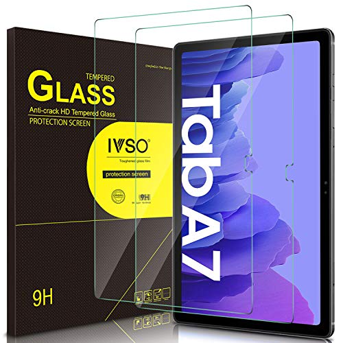 IVSO [2 Pack] Screen Protector for Samsung Galaxy Tab A7 (SM-T500/T505/T507) 10.4 2020, 9H Hardness Tempered Glass for Samsung Galaxy Tab A7 Bubble-Free Anti-Scratch Anti-Fingerprint Easy Installation