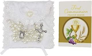 Girl First Communion Prayer Booklet Rosary Gift Set
