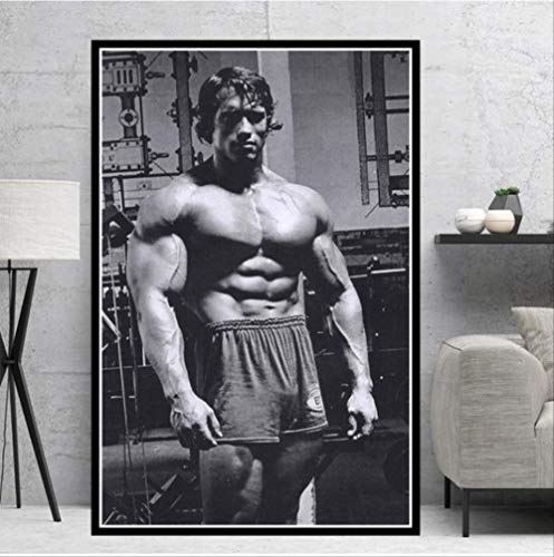 NOBRAND Arnold Schwarzenegger Bodybuilding Gym Star Poster Pintura Al Óleo Impresiones Lienzo Arte De La Pared Imágenes Sala De Estar Decoración del Hogar 50 * 70Cm Sin Marco