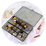 Caja de Almacenamiento de Joyas Caja de Pendientes de Gran Capacidad Soporte de exhibición Transparente a Prueba de Polvo Clasificación de Collar (Color : Black, Size : 18 * 12cm)