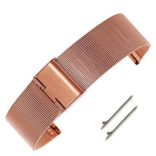 in acciaio inox solido 14mm delle donne di colore rosa del braccialetto...