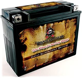 Pirate Battery YTX20H-BS High Performance - Maintenance Free - Sealed AGM Motorcycle Battery