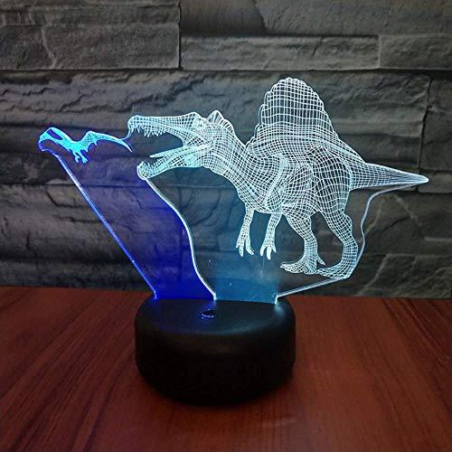 2er Pack, 3D Nachtlicht Bicolor 7 Farbwechsel Nachtlicht 3D LED Drache zur Erde Drache Schreibtischlampe Cartoon Figur Kinder Nachttischlampe, Weihnachtsgeschenk, Halloween, Neujahr
