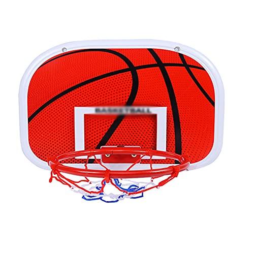 Reemplazo de red de baloncesto resistente Hoop de baloncesto colgante sin golpe, canasta pequeña colgando de la pared interior del hogar del hogar del hogar, juguete de tiro Aro de baloncesto interior