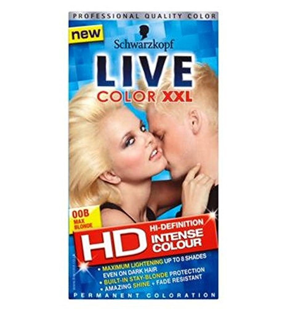 公演頑固な心配Schwarzkopf Live Color XXL Colour Intense Permanent Coloration 00B Max Blonde - シュワルツコフライブカラーXxl色の強い永久着色00B最大ブロンド (Schwarzkopf) [並行輸入品]