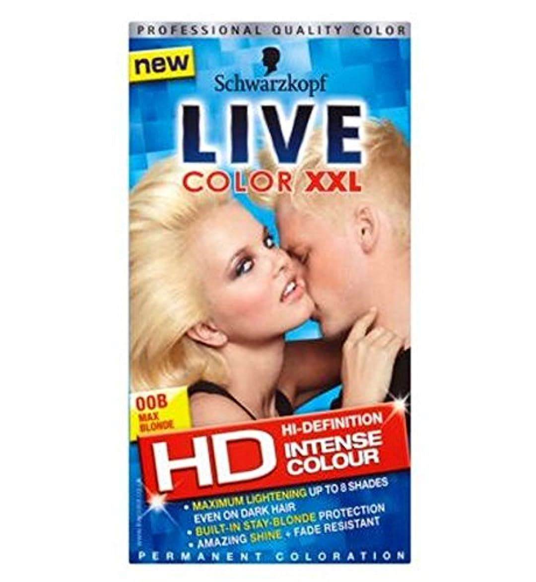 予定知覚リップシュワルツコフライブカラーXxl色の強い永久着色00B最大ブロンド (Schwarzkopf) (x2) - Schwarzkopf Live Color XXL Colour Intense Permanent Coloration 00B Max Blonde (Pack of 2) [並行輸入品]
