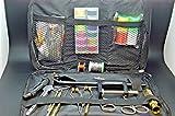 Olax Fliegenbinden Werkzeug Kit mit Schraubstock, Faden, Whip Finisher, Draht, Spulen, Hechelklemme