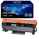 Uniwork Compatible para Brother TN2420 TN-2420 (con Chip) Cartucho Toner para Brother HL-L2310D HL-L2350DW HL-L2370DN HL-L2375DW DCP-L2510D DCP-L2530DW MFC-L2710DN MFC-L2710DW MFC-L2730DW MFC-L2750DW