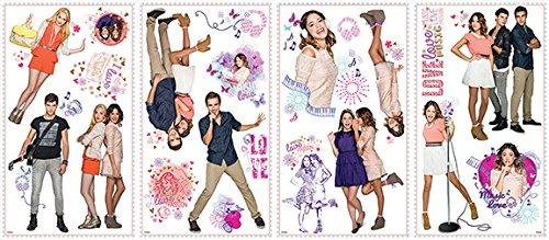 RoomMates 539057 Moderne Sticker Multi-Eléments repostionnable Disney Violetta Vinyle Adhésif