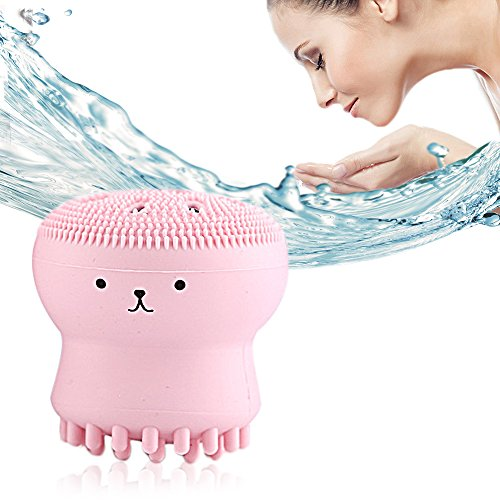 FOK Silicone Facial Cleansing Brush Face Exfoliator Massager Beauty Tool (STYLE-1)