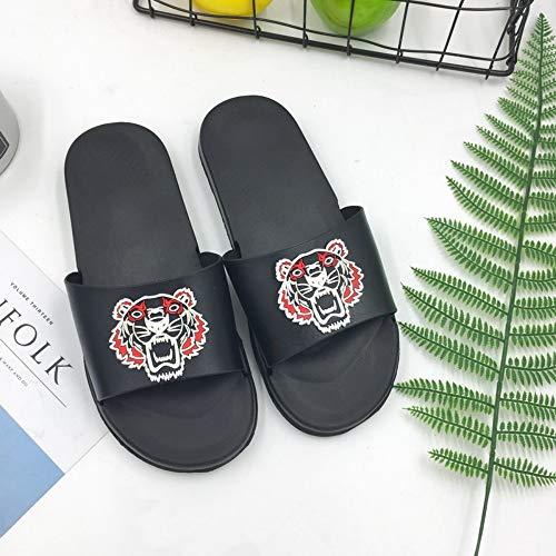 WDDNTX Zapatillas, Zapatillas Antideslizantes para Mujer Zapatillas De Playa para Mujer Zapatillas para Hombre Unisex Chanclas Zapatos Caseros Zapatillas De Casa, 44