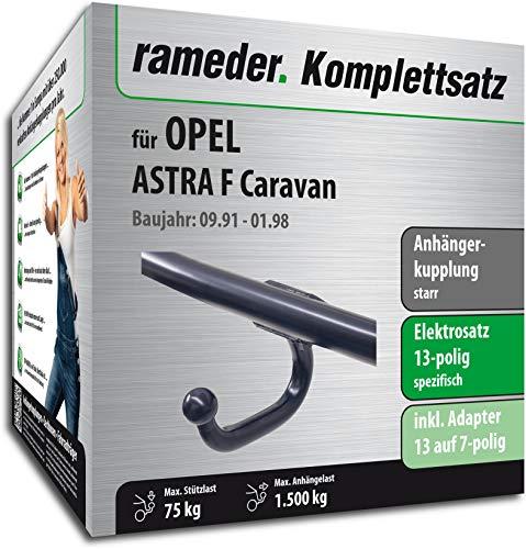 Rameder Komplettsatz, Anhängerkupplung starr + 13pol Elektrik für OPEL Astra F Caravan (116911-03440-1)