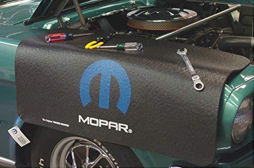 Drake CarBeyondStore - Black Fender Gripper Cover - with Blue Mopar