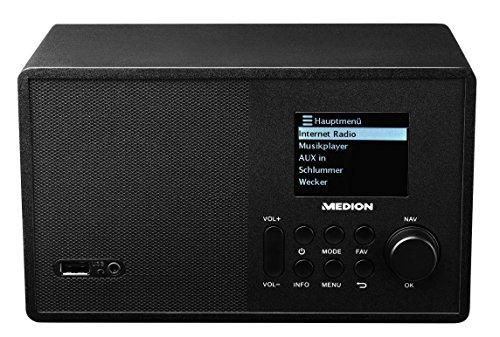 MEDION MD 87540 Retro WLAN Internetradio, 10W RMS, UKW, USB 2.0 Anschluss, Steuerung per Handy oder Tablet, schwarz