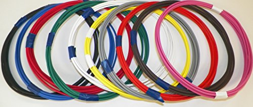 Automotive Copper Wire, GXL, 22 GA, AWG, GAUGE Truck, Motorcycle, RV, General Purpose. Order by 3pm EST Shipped Same Day (10 Colors 10' Each)