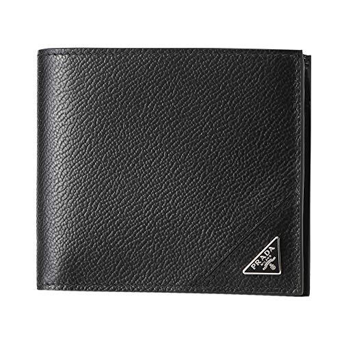 プラダ(PRADA) 2つ折り財布 2MO738 2CB2 F0002 ヴィッテロ マイクログレイン ブラック 黒 [並行輸入品]
