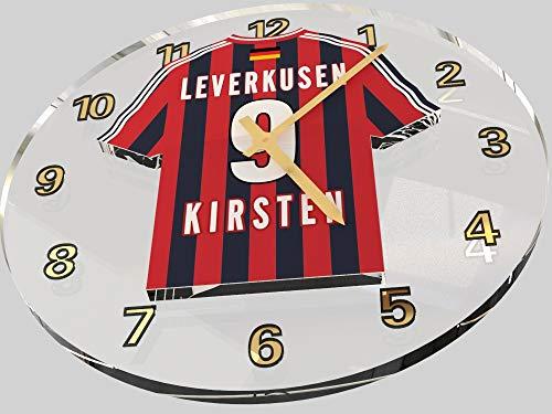FanPlastic ULF Kirsten 9 – Bayer 04 Leverkusen FC Wanduhr – Limitierte Auflage !