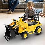 GOTOTO Escavatore Giocattolo Veicolo Trattore Escavatore Trattore per Bambini Cavalcabile per Bambini, Senza Pedali Pala dell'Escavatore Funzione Manuale, 73 * 40 * 28cm