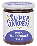 Supergarden arándano silvestre liofilizado en polvo - Producto 100% puro y natural - Apto para veganos - Sin azúcares, aditivos artificiales ni conservantes añadidos - Sin gluten - No OMG