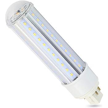 Led G24q Bulb Daylight 6000k 4 Pin Base 15w 1550 Lumen G24q 1 G24q 2 Or G24q 3 Cfl 30w Equivalent 360 Degree Beam Angle Remove Bypass The Ballast Amazon Com