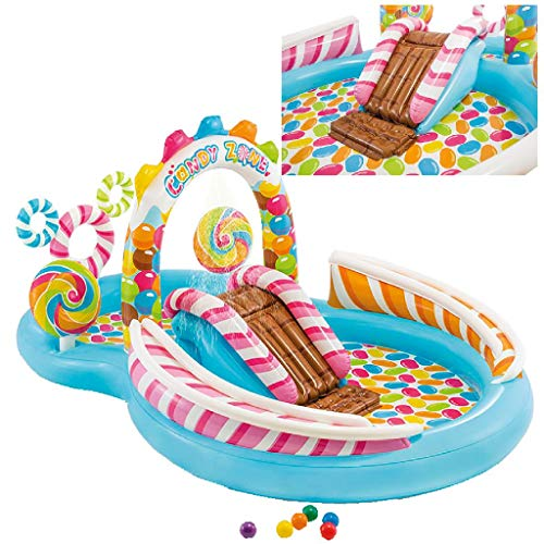 Intex- Playcenter Caramelle, Multicolore, 295 x 191 x 130 cm, 57149