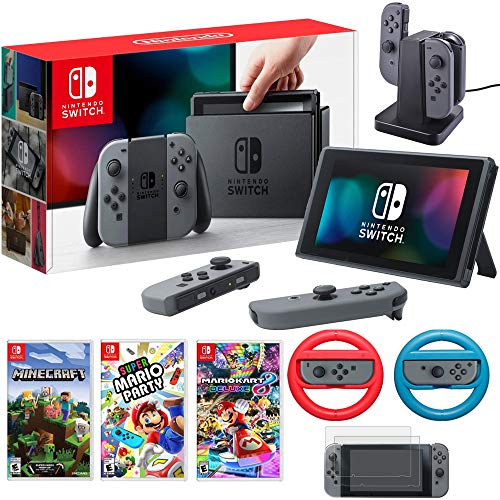 Nintendo Switch 32 GB Console with Super Mario Party, Mario Kart 8, Minecraft & More
