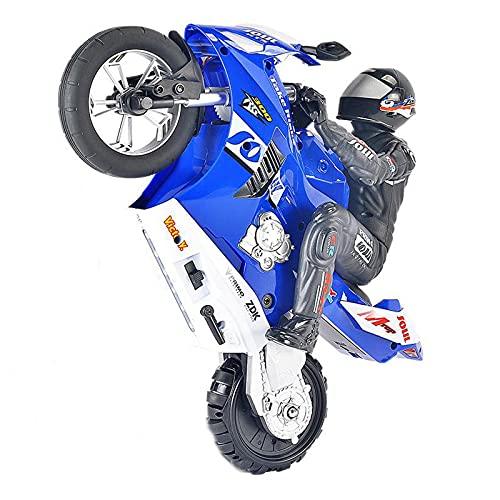 AMYMGLL Remote Control Motorcycle Fancy Stunt Balance Racing Remote Control Car Boy 360° Drift Racing Toy,Blue