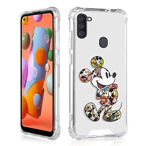 DISNEY COLLECTION Galaxy A11 Clear Case,Galaxy A11 Case Cute Pattern on Soft Clear TPU Bumper Cover,Slim Fit Protective Phone Case for Samsung Galaxy A11 (Mickey Mouse)