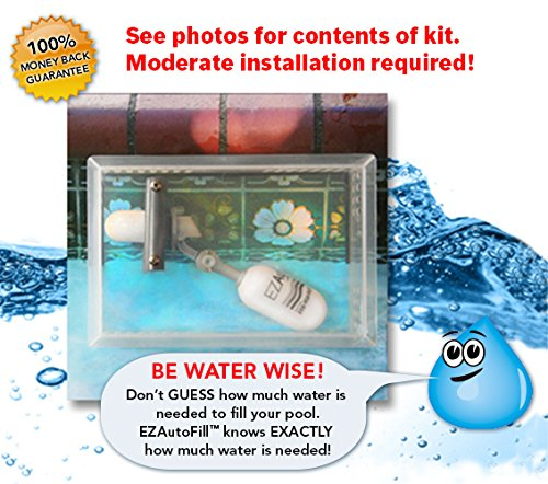 EZAutoFill Swimming Pool Auto Fill Valve and Protective Cover The Water Wise Solution!