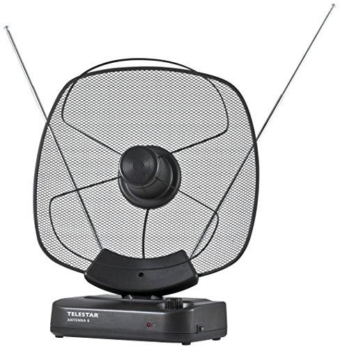 Telestar Antenna 6 LTE Aktive DVB-T/DVB-T2 Antenne (FullHD, Verstärkung: bis zu 36 dB, LTE Filter, 230V, optional 12V) schwarz