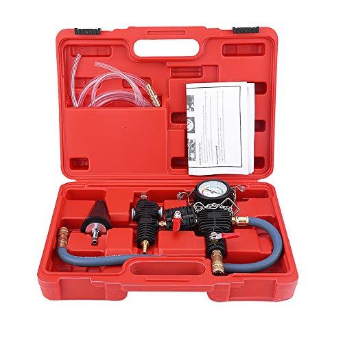 Füllsatz Kühl- und Wasserpumpenwerkzeug, Kühlsystem-Vakuumspülung und Kühlmittel-Nachfüllsatz mit Tragetasche für SUV-Van-Kühler