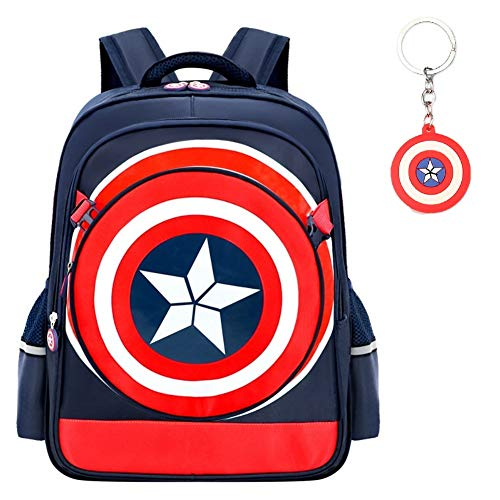 Mochila impermeable 3D Super Hero Kids Mochila, Capitán América impermeable Comic School Bag para…