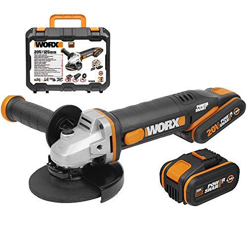WORX WX803 - Amoladora 125mm 20V 2Ah+4Ah