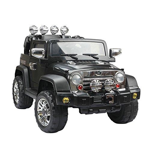 RC Auto kaufen Kinderauto Bild 5: HOMCOM Elektroauto Kinderauto Kinderfahrzeug Kinder Elektro Auto Fahrzeug Spielzeug (Jeep/schwarz)*