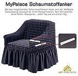 My Palace Aurora Sesselschoner 1 Sitzer Stretch und antirutsch Sesselhusse Fernsehsessel Bezug elastischer Sesselüberwurf mit Schaumstoffankern, 70-120cm Anthrazit - 2