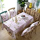 XXDD Mantel de Lino Rectangular Impermeable para decoración de Bodas, Mantel para decoración de Cocina, Mantel para Fiestas en casa, A5 140x180cm