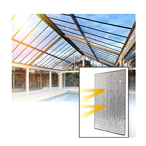 Vela de Sombra Toldo Vela, Papel De Aluminio Película De Aislamiento, Techo Casa De Cristal Placa De Sombreado Proteccion Solar Frio Enfriarse por Hogar Balcón Vidrio Proteccion Solar, 16 Tamaños LJI