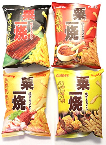 Calbee Grill-A-Corn Super Package (4 Packs-Hot Spicy, Eel...