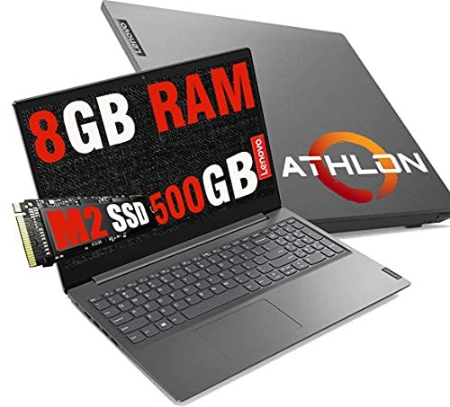 Notebook Pc Lenovo portatile Amd Athlon fino a 2,6 Ghz Display 15,6  Hd,Ram 8Gb Ddr4,Ssd 500Gb,Hdmi,USB 3.0,Wifi,Bt,Webcam,Windows 10 Pro,Open Office per Dad,Smart working