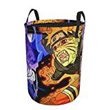 Naruto Laundry Basket Collapsible Laundry Hamper Drawstring Hampers Circular Storage Bins Waterproof Dirty Clothes Bags Toys Organizer For Closet Round Tunic Dirty Pocket