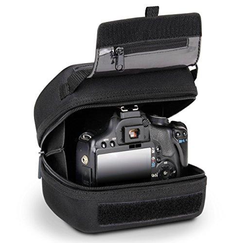 USA Gear Custodia Rigida per Fotocamera DSLR con Protezione Eva Stampata, Interno Imbottito, Passante Si Adatta a Telecamere Fino a 15,24 x 16,51 x 7 cm