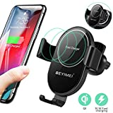 BEYIMEI Caricabatterie Wireless 3 in 1, Caricabatterie per sensore Wireless Qi-Fast, Compatibile con Airpods 2.0, iWatch Series 5 4 3 2 1 e OS 6.0, iPhone 8, 8 Plus, X, XR, XS, Max, iPhone 11 PRO Max
