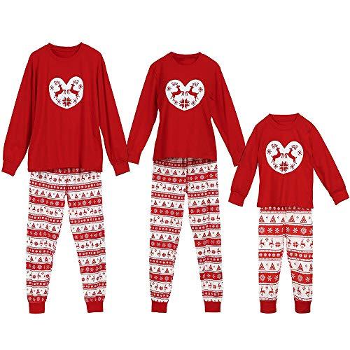 Jaysis Jaysis Weihnachten Eltern-Kind Familien-Pyjamas, Kinderfamilie passende Weihnachten Hirsch Hose Set Weihnachten Nachtwäsche Nachtwäsche Outfit
