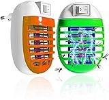 Bug Zappers Zanzariera Elettrica, Uccidi Zanzare Elettrico, UV Lampada Antizanzare, trappola per zanzare, lampada a LED silenziosa per zanzare e zanzare(2PACK)