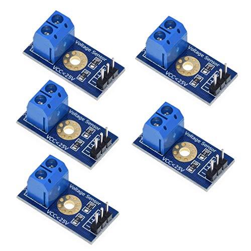 HiLetgo Spannungssensor, Spannungssensor, Spannungsprüfer, Spannungsprüfer, Gleichstrom, 0~25 V, Messgerät für Arduino